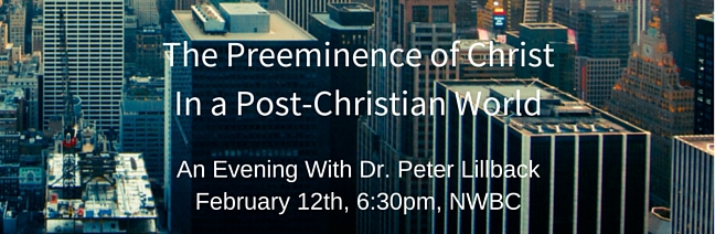 Dr. Peter Lillback Event